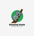 logo sleeping koala simple mascot style vector image