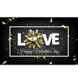 love valentine s card with bow and serpentine vector image vector image