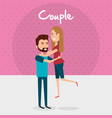 lovers couple avatars characters vector image vector image