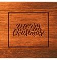 Merry Christmas typographic text on wood vector image