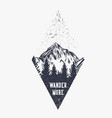 mountain hiking quote typography wander more vector image