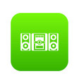 music center icon digital green vector image