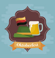 oktoberfest festival design with icon vector image vector image