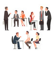 people having job interview with hr specialists vector image