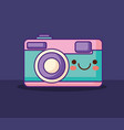 photographic camera design vector image
