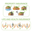Property Life And Health Insurance Infographic vector image vector image