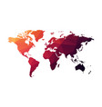 red geometric world map vector image
