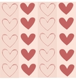 Seamless background texture pattern with hearts vector image vector image