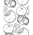seamless pattern of contour cartoon vector image