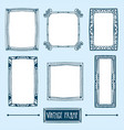 set of hand drawn vintage frames vector image vector image
