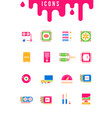 set simple icons computer upgrading vector image vector image