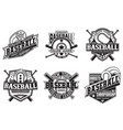 set vintage emblem design vector image