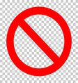 sign ban vector image vector image
