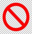 sign ban vector image