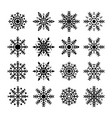 snowflakes set collection snowflakes vector image