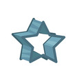 star shaped pastry cutter vector image vector image