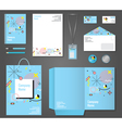 Stationery Corporate Identity Memphis Style vector image