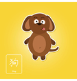 Stock icons with dog and chinese zodiac vector image vector image