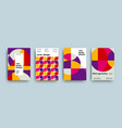 swiss trendy geometry covers collection vector image