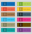 sword icon sign Set of twelve rectangular colorful vector image