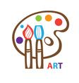template icon art vector image