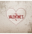 Valentines Day greeting Heart big Banner with Text vector image