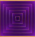 violet fashion abstract background golden border vector image vector image