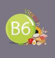 vitamin b6 vector image