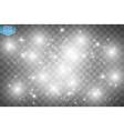 White glitter wave white star dust trail vector image