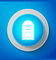 white mail box icon post box icon isolated vector image vector image
