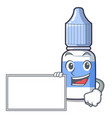 with board eye drops small bottle character vector image vector image