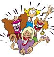 women having fun and laughing vector image vector image