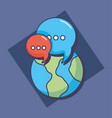 world planet communication message chat vector image