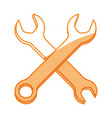 wrenchs tools crossed vector image vector image
