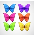 Collection of color butterfly icons vector image