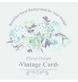 Gentle Blue Vintage Floral Greeting Card vector image