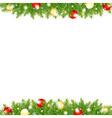 Xmas And Happy New Year Border vector image