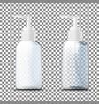 3d realistic transparent plastic bottles vector image