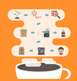 476coffee process infographic vector image vector image