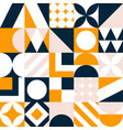 abstract seamless pattern colorful geometric vector image vector image