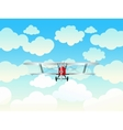 Aeroplane in the blue sky vector image vector image