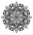 art nouveau inspired decorative design element vector image