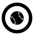 baseball ball icon black color in circle vector image vector image