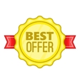 Best offer label icon cartoon style vector image vector image