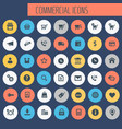 big commercial icon set trendy line icons vector image