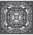 black and white ornamental floral paisley bandanna vector image vector image