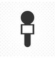 black microphone icon in flat design with vector image