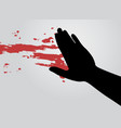 blood art hand vector image vector image