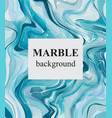 blue turquoise marble background luxury stone vector image