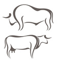 Bull Cow Farm Animal vector image vector image